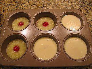 Mini Pineapple Upside Down Cakes