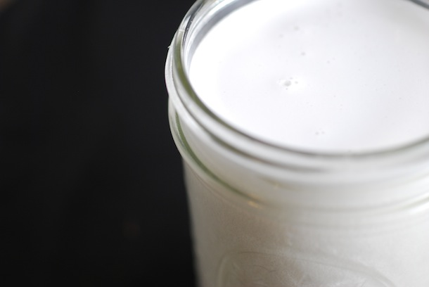 homemade coconut milk from fresh coconuts