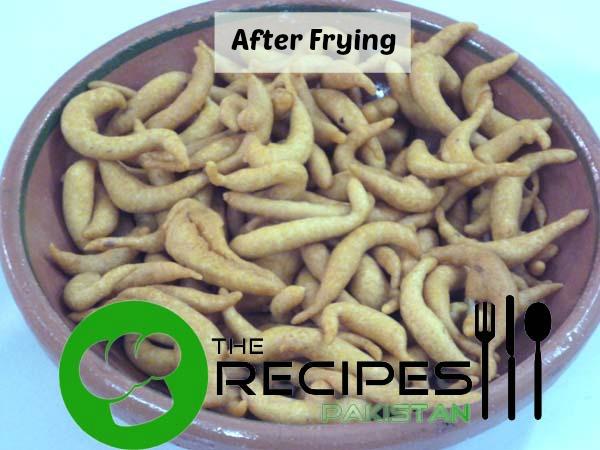 Pakorian after fry