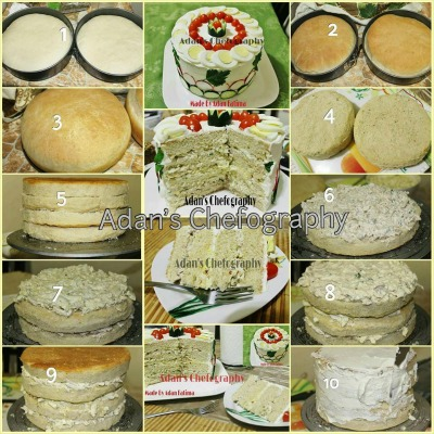 Step by Step Sandwich Cake